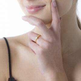 Bague Solitaire Seynabou Or Jaune Diamant - Bagues solitaires Femme | Histoire d'Or