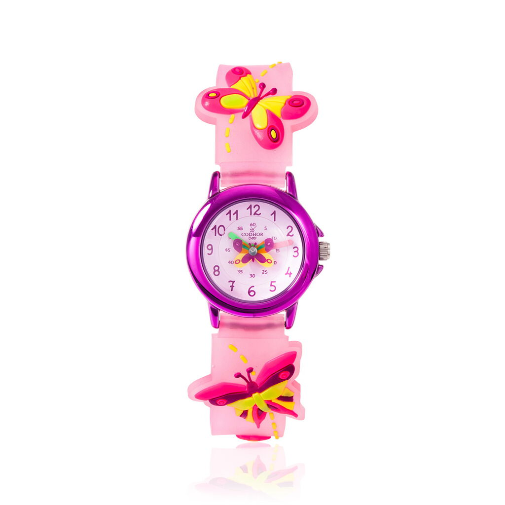 Montre Codhor Kid Papillon Rose