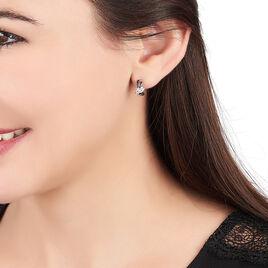 Créoles Clemenca Rondes Argent Blanc Oxyde De Zirconium - Boucles d'oreilles créoles Femme | Histoire d'Or