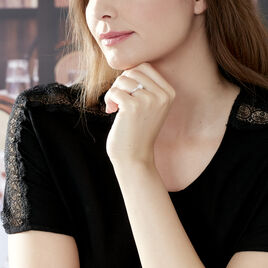 Bague Albane Or Blanc Diamant - Bagues solitaires Femme   Histoire d'Or