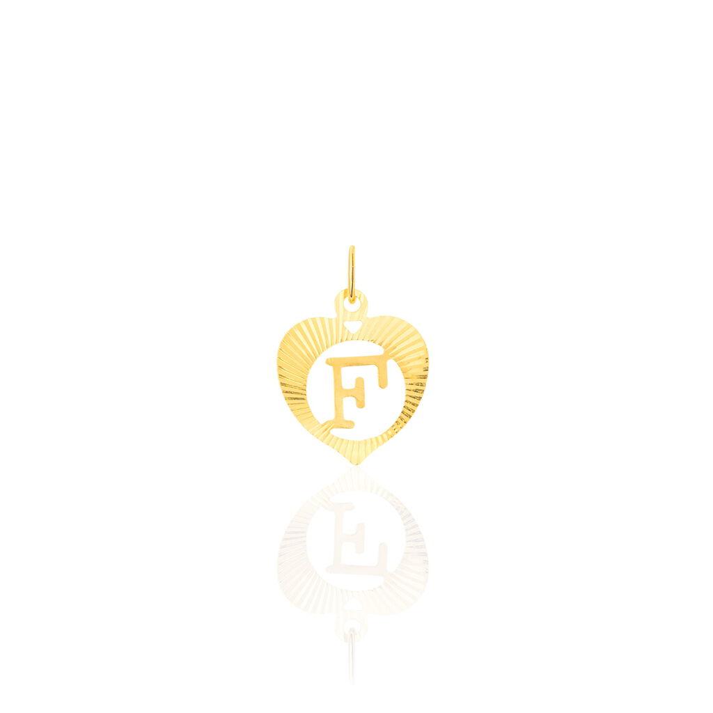 Pendentif Eudocie Coeur Lettre Or Jaune - Pendentifs Coeur Unisexe | Histoire d'Or