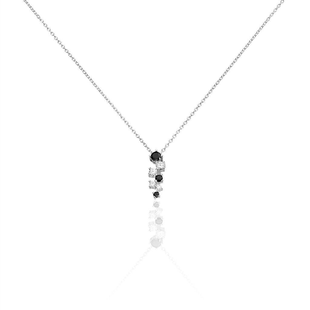 Collier Gaya Argent Blanc Oxyde De Zirconium - Colliers fantaisie Femme | Histoire d'Or