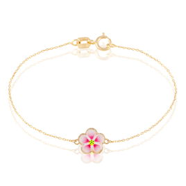 Bracelet Syna Fleur Or Jaune - Bracelets Naissance Enfant   Histoire d'Or