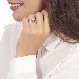 Bague Lise-laure Or Blanc Saphir Et Diamant - Bagues avec pierre Femme   Histoire d'Or