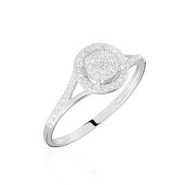 Bague Or Blanc Verna Diamants Cercle - Bagues avec pierre Femme   Histoire d'Or