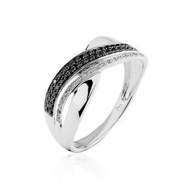 Bague Merlin Or Blanc Diamant - Bagues avec pierre Femme   Histoire d'Or