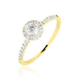 Bague Solitaire Lena Or Jaune Diamant - Bagues avec pierre Femme | Histoire d'Or