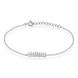 Bracelet Moana Argent Blanc Oxyde De Zirconium - Bracelets fantaisie Femme   Histoire d'Or