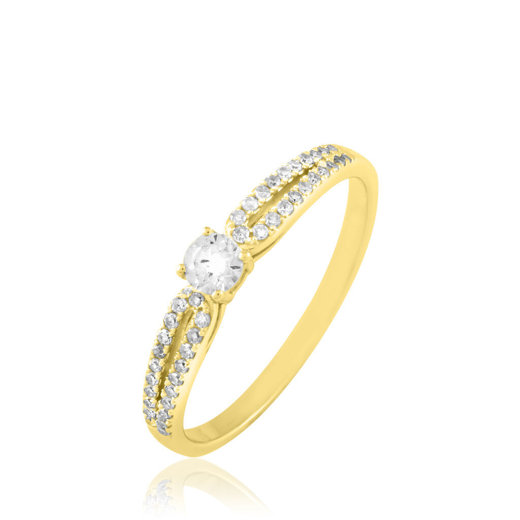 Bague Solitaire Katalina Or Jaune Diamant