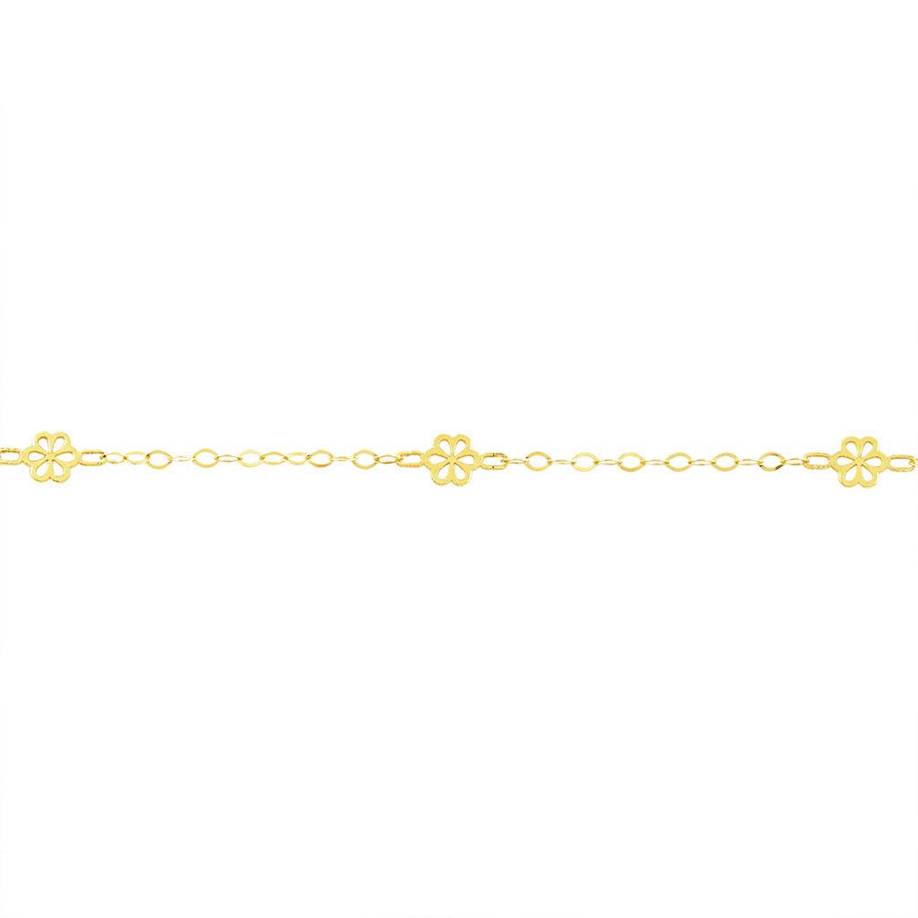 Bracelet Effit Fleurs Or Blanc - Bijoux Femme   Histoire d'Or