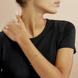 Bracelet Kaelig Plaque Or Jaune Oxyde De Zirconium - Bracelets fantaisie Femme | Histoire d'Or