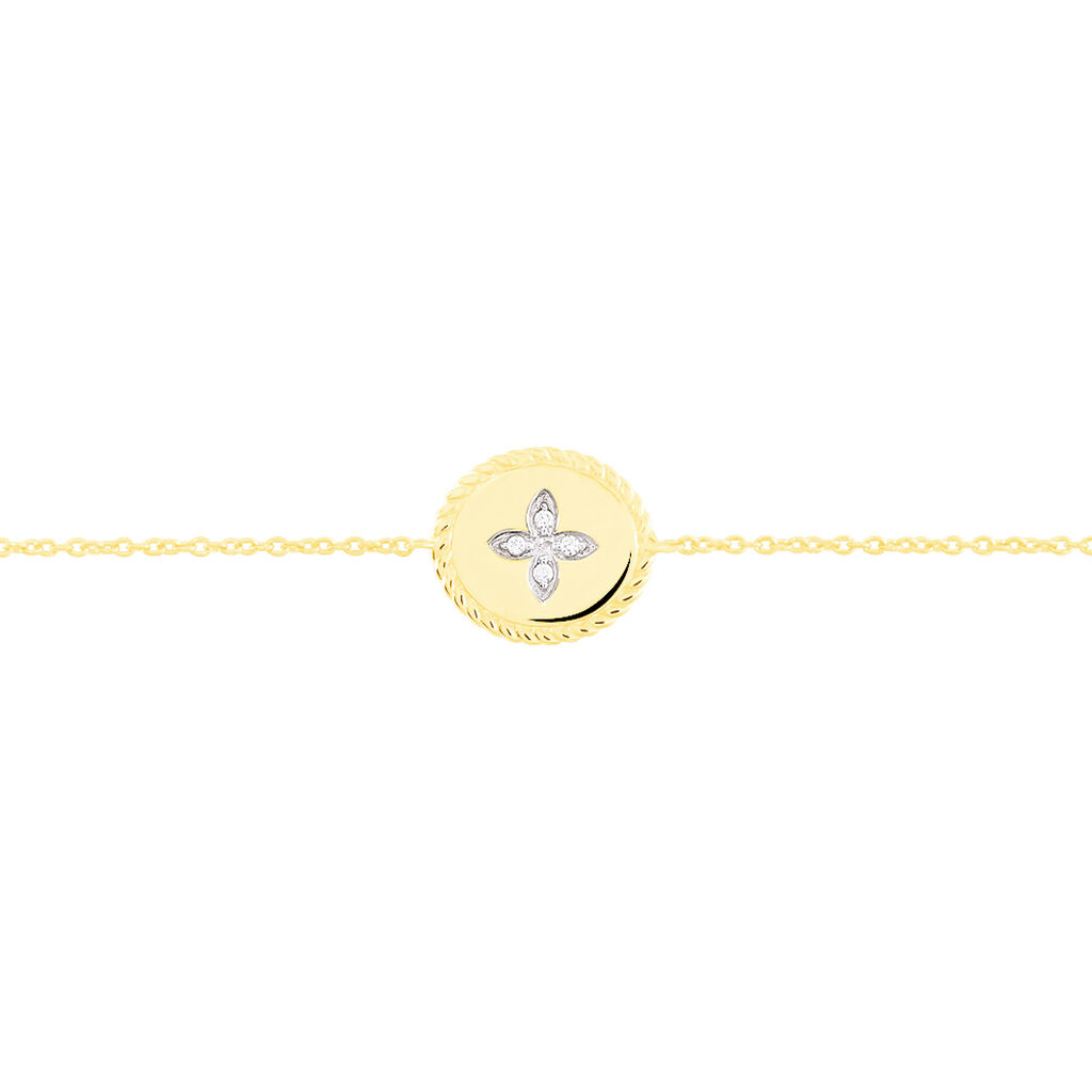 Bracelet Austina Or Jaune Diamant - Bijoux Femme   Histoire d'Or