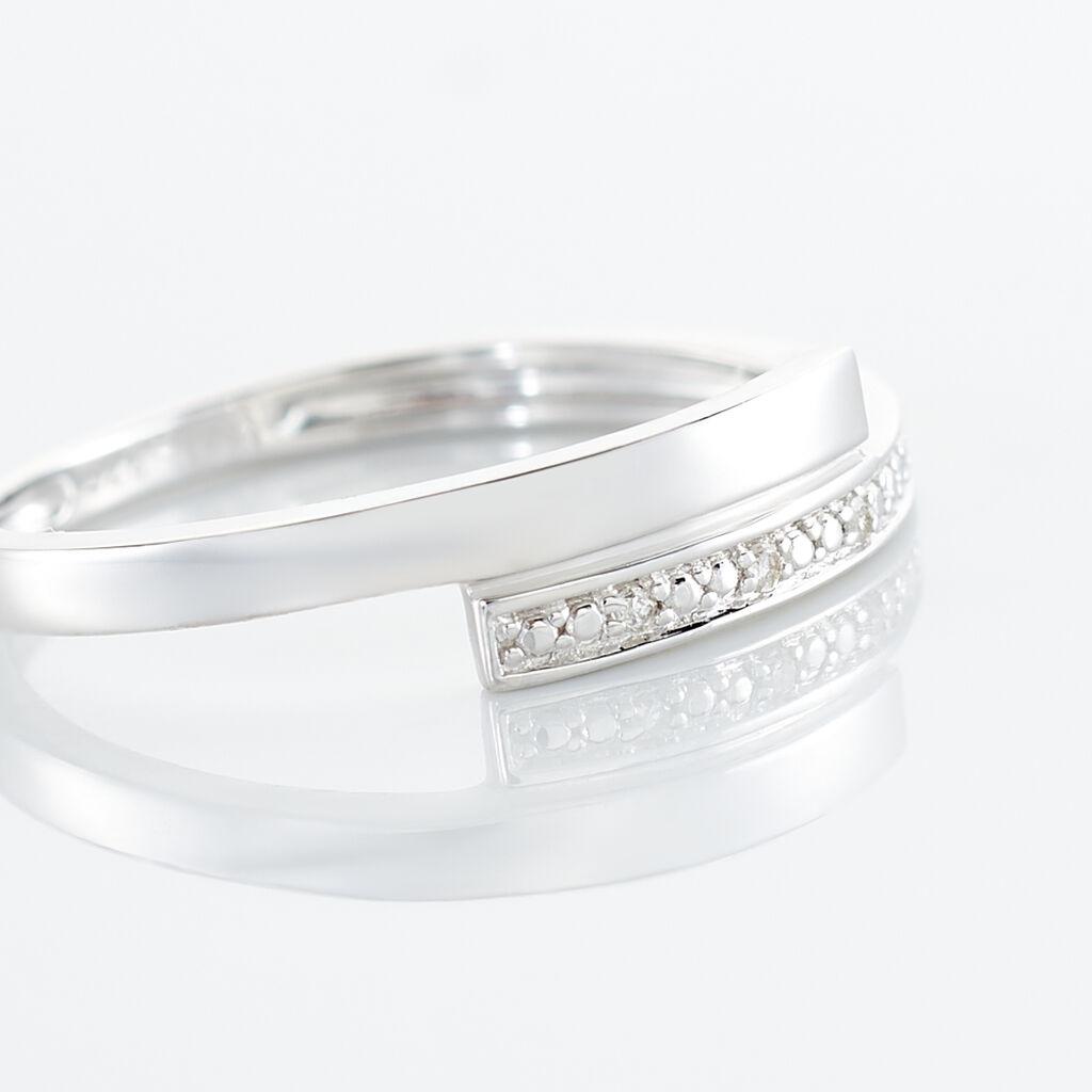 Bague Abigaelle Or Blanc Diamant - Bagues avec pierre Femme | Histoire d'Or