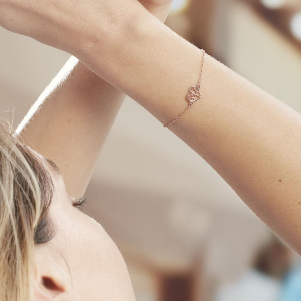 Bracelet Elwenn Argent Rose - Bracelets Arbre de vie Femme   Histoire d'Or