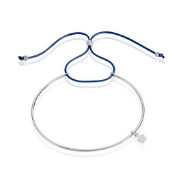 Bracelet Jonc Live Argent Blanc - Bracelets cordon Femme | Histoire d'Or