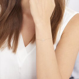 Bracelet Eufemia Or Jaune Oxyde De Zirconium - Bracelets Coeur Femme | Histoire d'Or