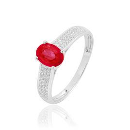 Bague Crista Or Blanc Rubis Et Diamant - Bagues solitaires Femme | Histoire d'Or