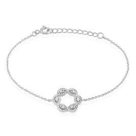 Bracelet Elvera Argent Blanc Oxyde De Zirconium - Bracelets fantaisie Femme   Histoire d'Or