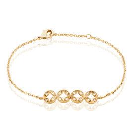 Bracelet Tiziana Plaque Or Jaune Oxyde De Zirconium - Bracelets fantaisie Femme | Histoire d'Or