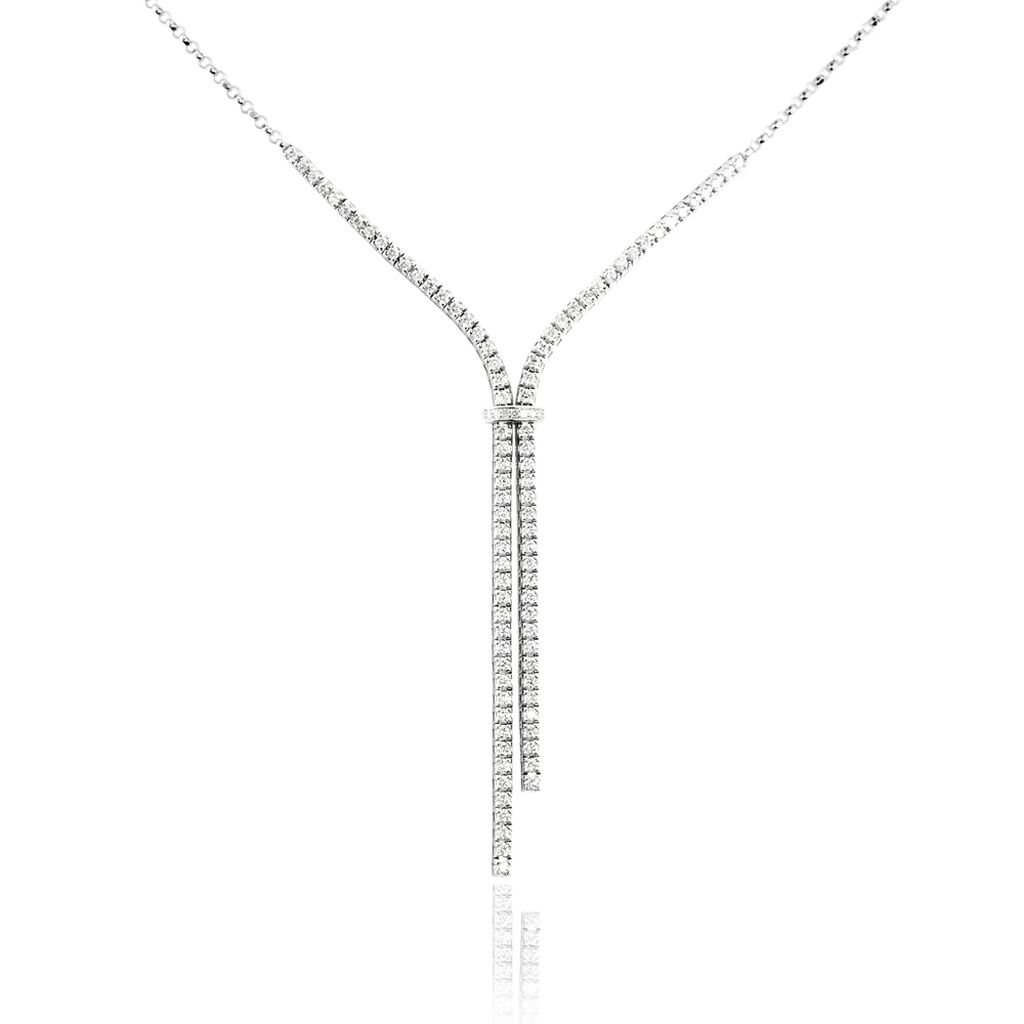 Collier Moscou Or Blanc Diamant