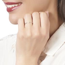 Bague Maye Or Blanc Diamant - Bagues avec pierre Femme | Histoire d'Or