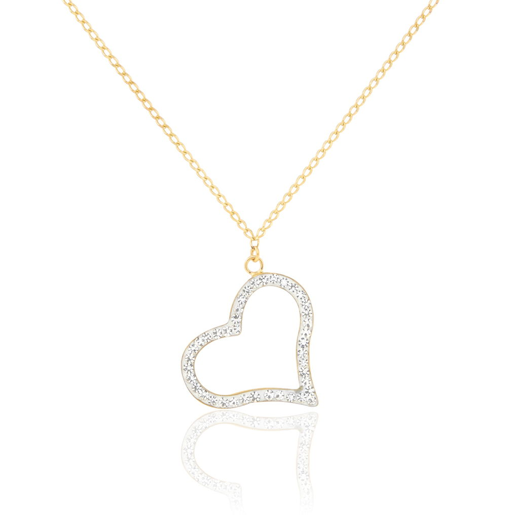 Collier Sallie Or Jaune Strass - Colliers Coeur Femme | Histoire d'Or