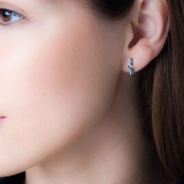 Boucles D'oreilles Puces Marina Or Blanc Diamant - Clous d'oreilles Femme   Histoire d'Or