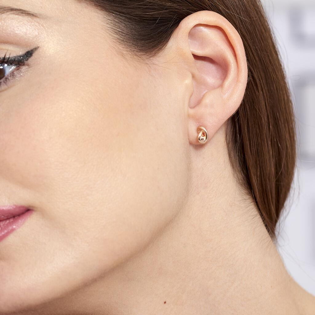 Boucles D'oreilles Puces Ania Argent Rose - Boucles d'oreilles fantaisie Femme | Histoire d'Or