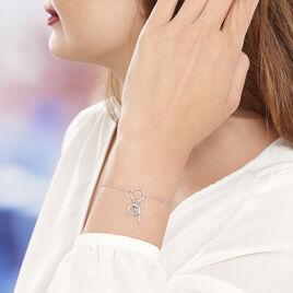 Bracelet Evyna Argent Blanc - Bracelets fantaisie Femme | Histoire d'Or