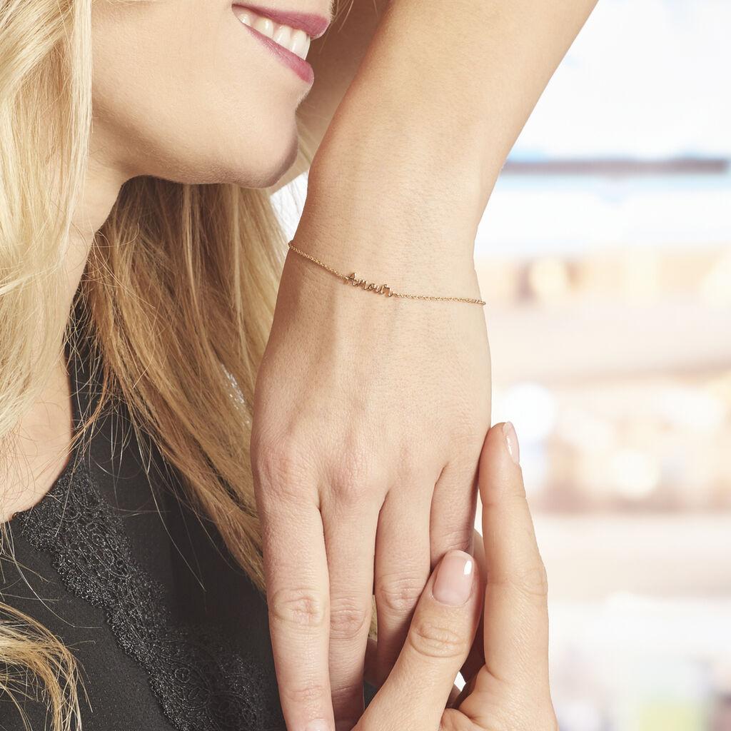 Bracelet Plaqué Or Jaune Amore - Bracelets fantaisie Femme | Histoire d'Or