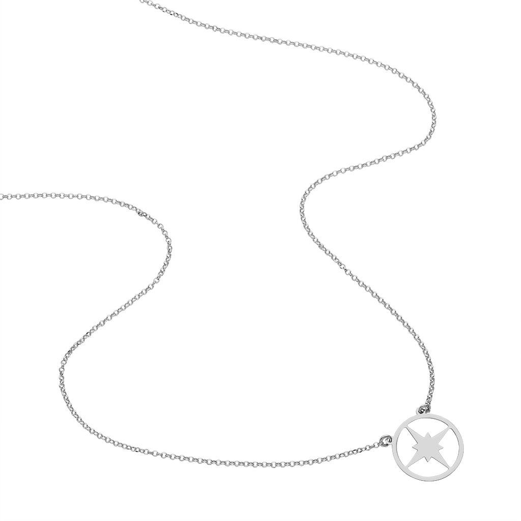 Collier Waina Argent Blanc - Colliers Etoile Femme | Histoire d'Or