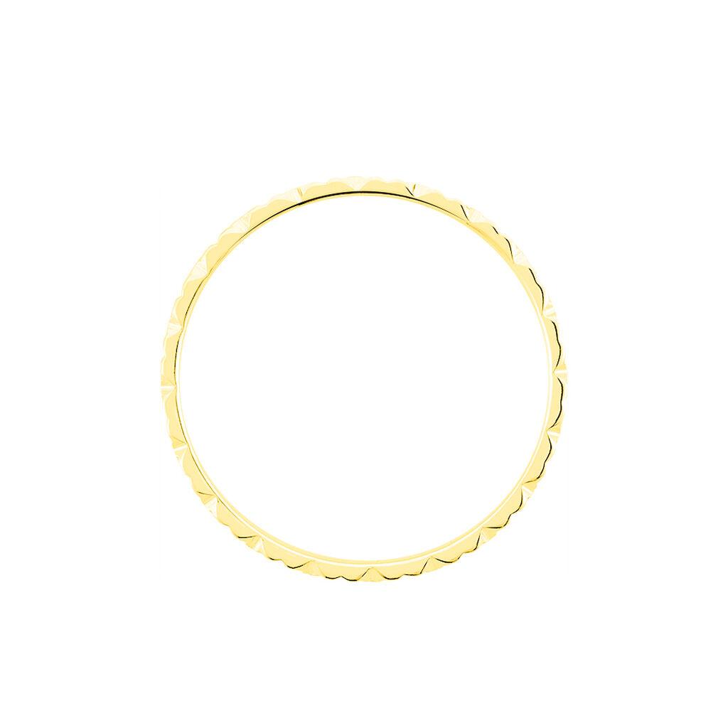 Alliance Fleur Diamantee Ruban Plat Or Jaune - Alliances Femme   Histoire d'Or