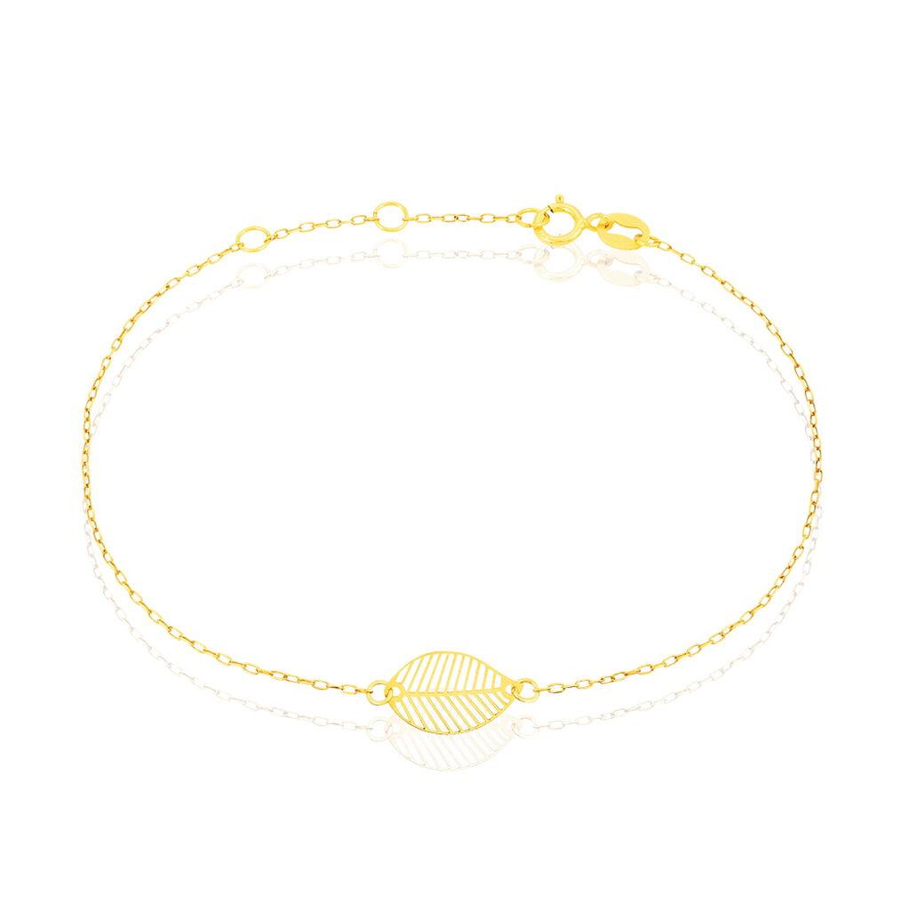 Bracelet Gillian Or Jaune - Bracelets Plume Femme   Histoire d'Or