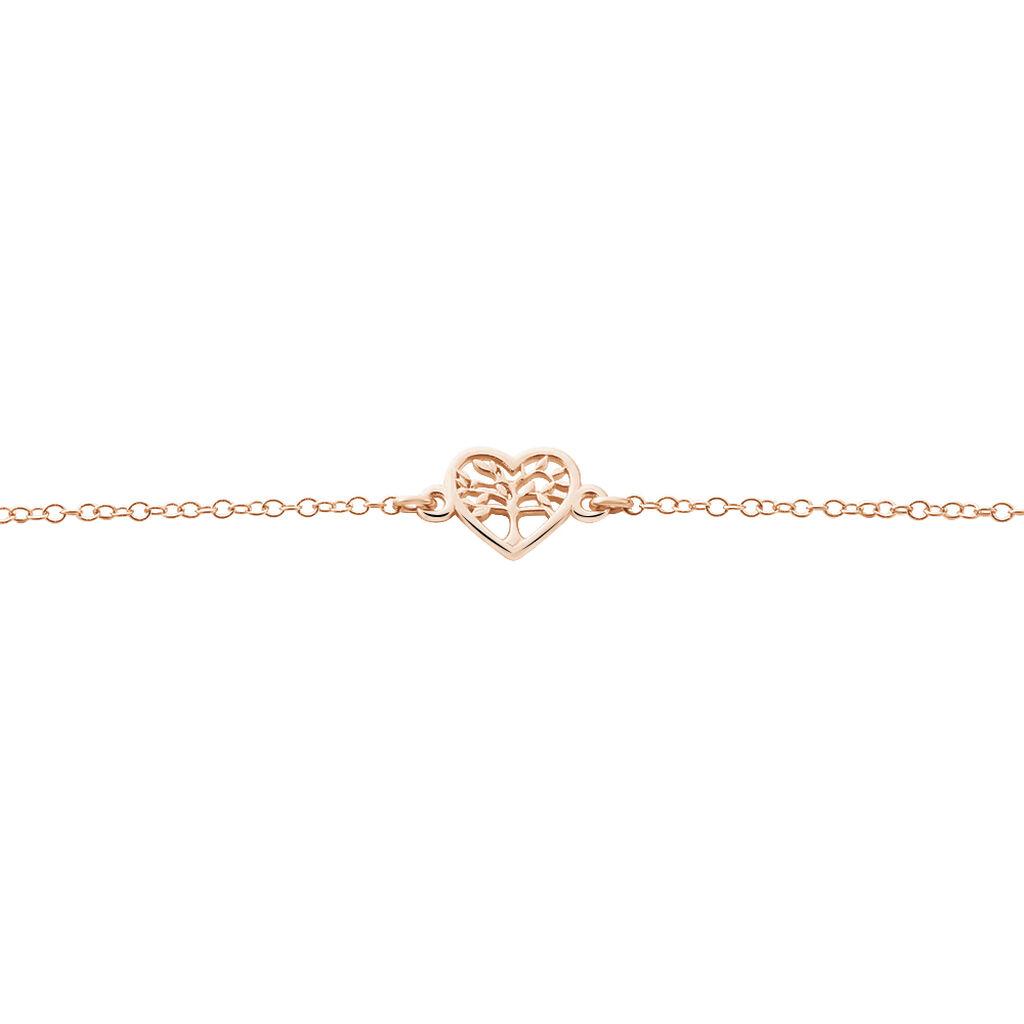 Bracelet Elwenn Argent Rose - Bracelets Arbre de vie Femme | Histoire d'Or