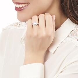 Bague Marie-felix Argent Blanc Oxyde De Zirconium - Bagues avec pierre Femme   Histoire d'Or