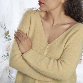 Bague Hecate Or Jaune Quartz Et Oxyde De Zirconium - Bagues solitaires Femme   Histoire d'Or