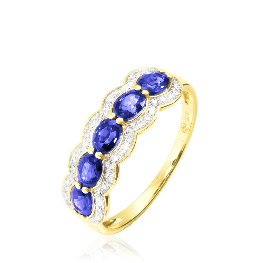 Bague Margaux Or Jaune Tanzanite Et Diamant