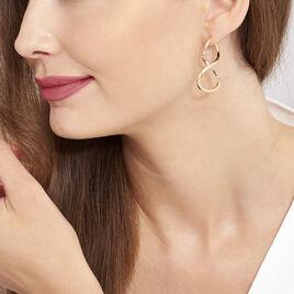 Créoles Hellen Huit Fil Triangle Or Jaune - Boucles d'oreilles créoles Femme | Histoire d'Or