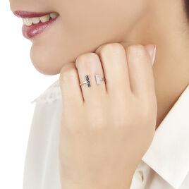 Bague Shannahae Or Blanc Diamant - Bagues avec pierre Femme | Histoire d'Or
