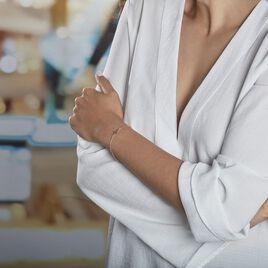 Bracelet Opale Argent Rose - Bracelets Croix Femme   Histoire d'Or