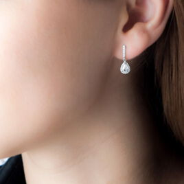 Boucles D'oreilles Pendantes Briony Argent Blanc Oxyde De Zirconium - Boucles d'oreilles fantaisie Femme | Histoire d'Or
