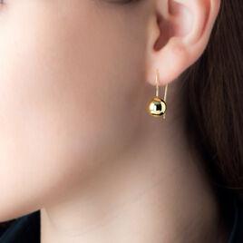 Boucles D'oreilles Pendantes Nohraae Plaque Or Jaune - Boucles d'oreilles fantaisie Femme | Histoire d'Or