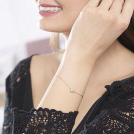 Bracelet Anne-sophie Or Rose Diamant - Bracelets Coeur Femme | Histoire d'Or