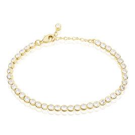 Bracelet Maryannick Plaque Or Jaune Oxyde De Zirconium - Bijoux Femme | Histoire d'Or