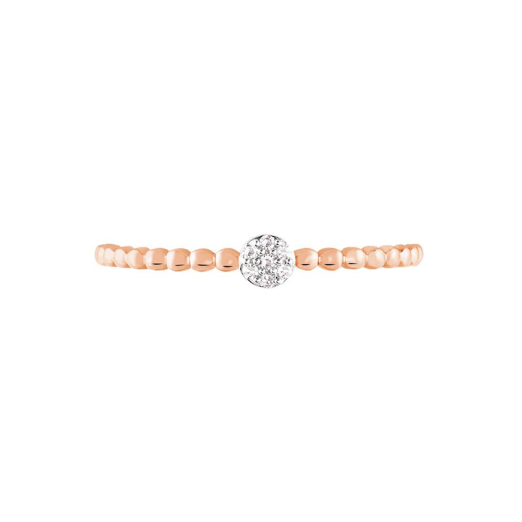 Bague Solitaire Gaxina Or Rose Diamant - Bagues avec pierre Femme | Histoire d'Or