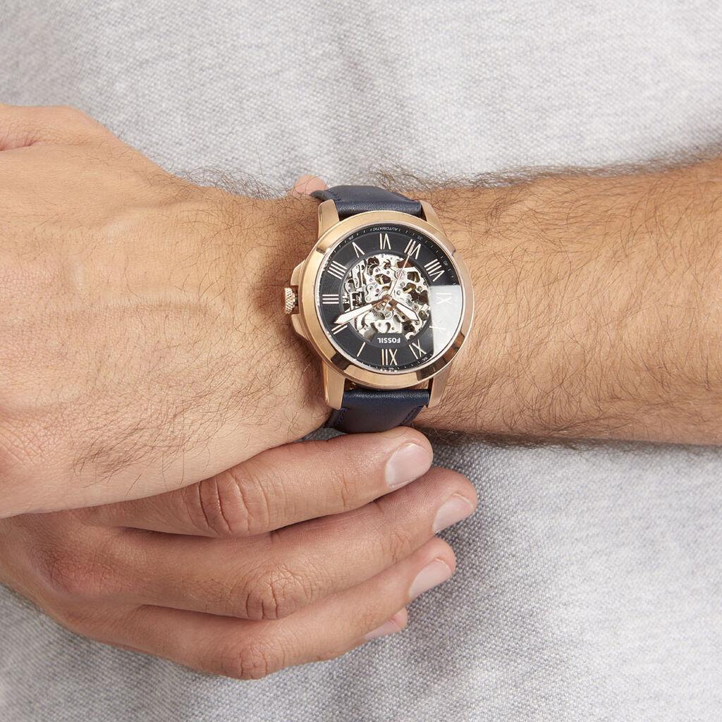 Montre Fossil Grant Automatique Bleu - Montres automatiques Homme   Histoire d'Or