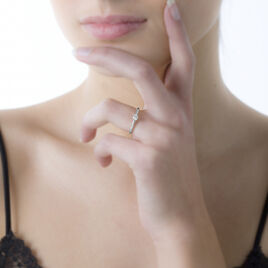 Bague Solitaire Ihsane Or Blanc Diamant - Bagues solitaires Femme   Histoire d'Or