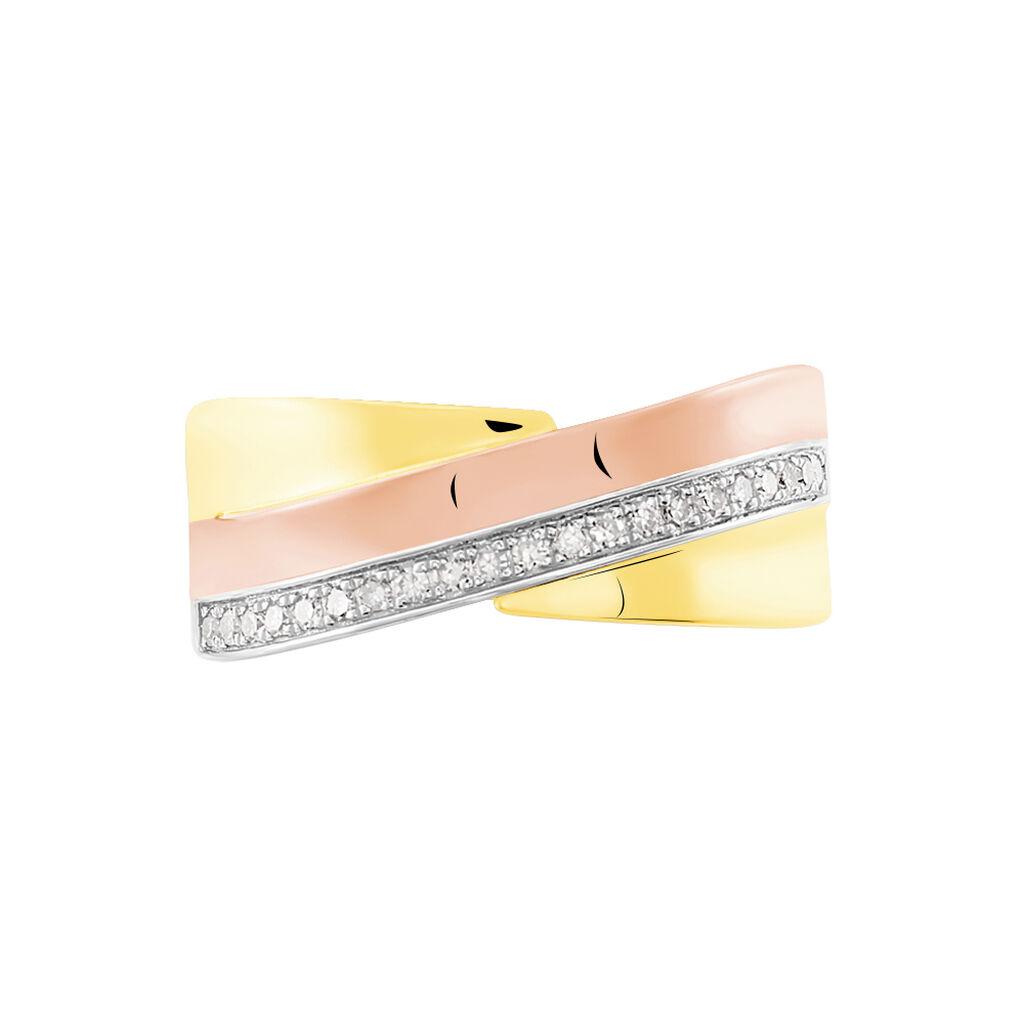 Bague Rosabella Or Tricolore Diamant - Bagues avec pierre Femme | Histoire d'Or
