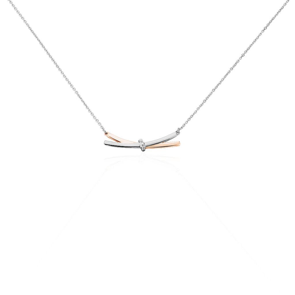 Collier Tonnia Or Bicolore Diamant - Bijoux Femme | Histoire d'Or