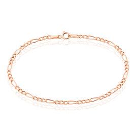 Bracelet Cameo Maille Alternee 1/3 Or Rose - Bracelets chaîne Femme | Histoire d'Or
